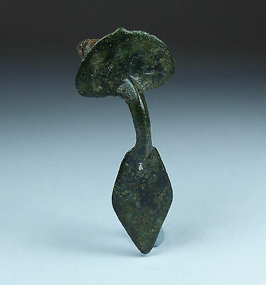 Ancient Roman Bronze Plate Brooch 3Rd/4Th Ad
