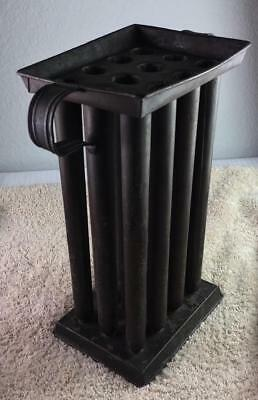 Vintage Antique 12 Hole Primitive Candle Metal Mold With Handles 11 1/2 Tall Old