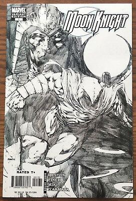 MOON KNIGHT #1 NEAR MINT Finch SKETCH VARIANT Black & White High Grade 2006. NM