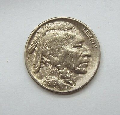 1916-D Buffalo Nickel ALMOST UNCIRCULATED 5-Cents