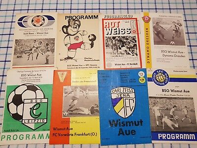 24 Programme DDR-Oberliga 75/76 Wismut Aue