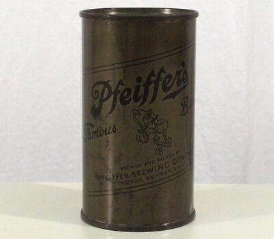 Pfeiffer's Olive Drab Wwii Military Issue Flat Top Beer Can Detroit Michigan War