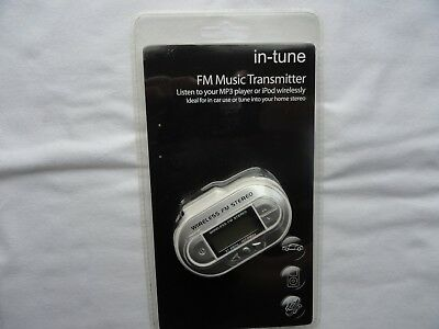 FM Music Transmitter In Tune Brand New Sealed. Free postage.