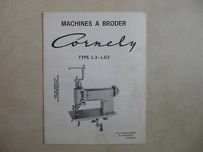 "Cornely  Machine  Model Type "" L3-Lg3""  Parts  Book  Brochure"