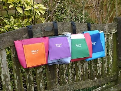 Dog poo bag waste carrier, Sling it- don't leave it! Carries full bag to home