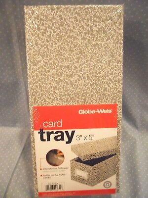 """Globe-Weis Item #93 Fiberboard Index 3"""" x 5""""  Card Tray  Holds 1000 cards"""