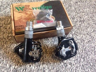 NOS Vintage wellgo Clipless Roadbike Pedals Brand New In Box Pedale