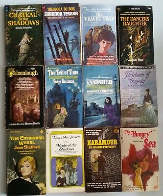 Lot of 12 Vintage 1960's GOTHIC Romance Suspence Paperback Books ~ NICE!
