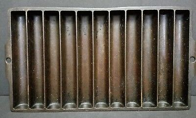 Griswold Erie PA PENN USA 954 F Vintage Cast Iron Camp Fire Corn Bread Stick Pan