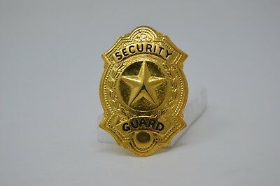 Security Officer Guard  Gold Tone Badge Cap Device Star