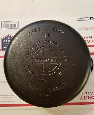 Griswold Erie Cast Iron  no.8 Tite-Top Dutch Oven Pot Cleaned and Seasoned