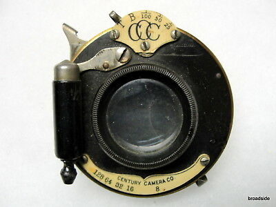 Century 4 x 5 Rapid Rectilinear lens and Century Camera Co. shutter and lens