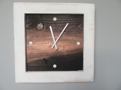 Beautiful Handmade Shabby Chic Rustic Reclaimed Pallet Wood Wall Clock