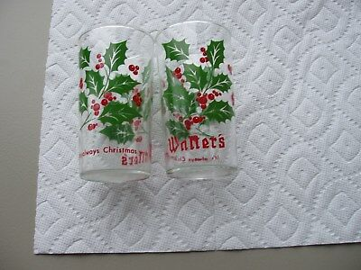 Two Walter's Christmas Shell Glasses: 1970s (Older) Version