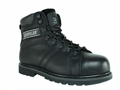 Caterpillar SILVERTON HI SG SUREGRIP Men's Work Safety Black Leather Boots NON S