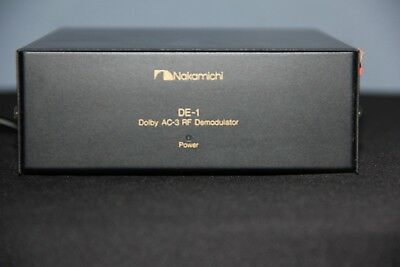 Nakamichi DE-1 Dolby AC-3 RF Demodulator for Laser Disk - Used