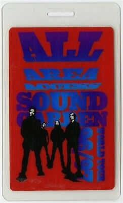 Soundgarden 1996 Down on the Upside Concert Tour Laminated Backstage Pass AAA