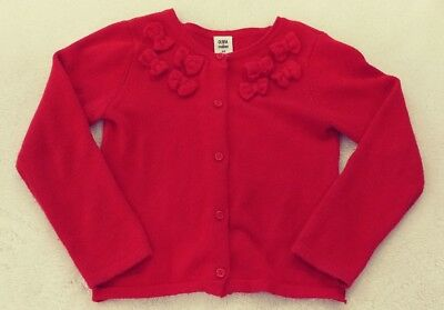 Gymboree girls olivia cardigan / sweater red size 5 5t