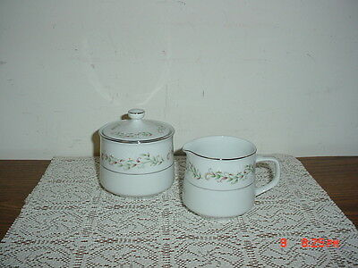 "3-Pc Cottonwood ""brentwood"" Cream & Sugar Bowl Set/wht-Tan-Grn-Brn/clearance"