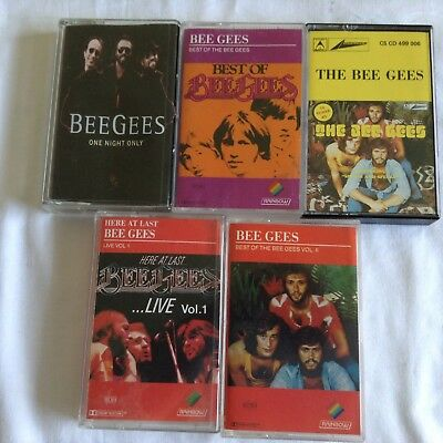 5 THE BEE GEES CASSETTES Bulk Lot