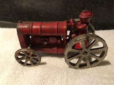 Old Antique Vintage Arcade Fordson Tractor 273 Cast Iron 1920's 3 3/4""