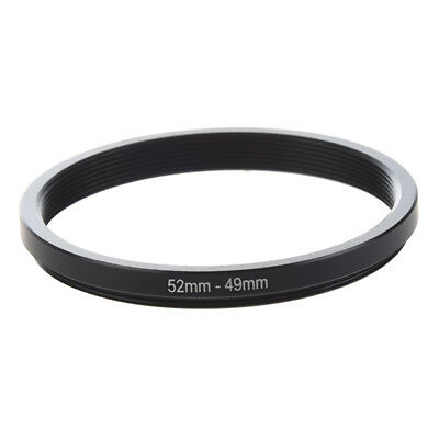 52mm-49mm 52mm to 49mm Black Step Down Ring Adapter For Camera N2A3