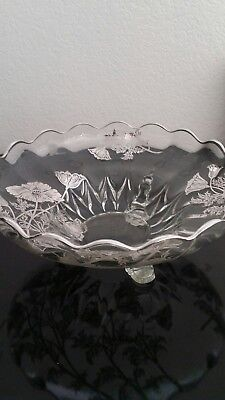 Antique Silver Overlay Glass Piece - Early Twentieth Century
