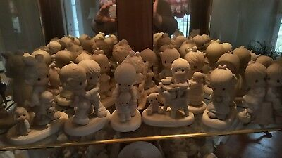 VINTAGE LOT 45-50 Precious Moments Figurines. Collection at least 25+ yrs old