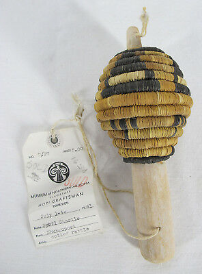 Vintage Native American Indian Hopi Coiled Rattle Museum of Northern Arizona yqz