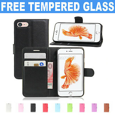 Case for Apple iPhone 6 7 8 5S SE Plus Cover Real Genuine Leather Flip Wallet
