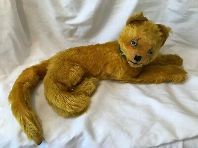 Vintage Lioness - 15 inches long - Jointed Head