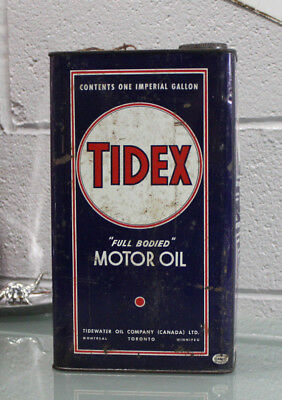 Tidex Tidewater Motor Oil 1 Imperial Gallon Oil Can Canada