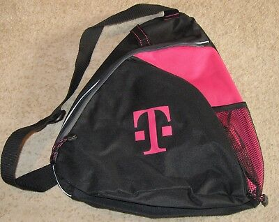 New T-Mobile Tuesday Shoulder Sling Backpack (Black & Pink)