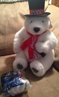 2000 Coca Cola Bear with Top Hat and 2002 McDonalds Holiday Toy