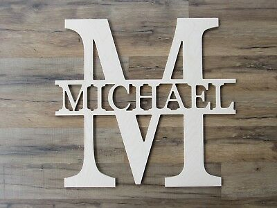 "Wall Letters  Unpainted 18"" Nursery Wood Wall Letters  Wooden Name Child Nursery"