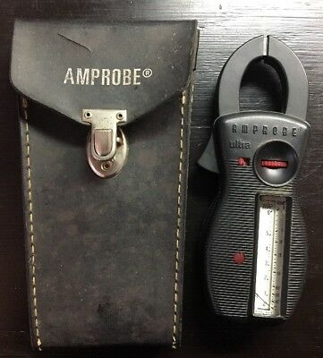 "VINTAGE Amprobe ""ULTRA"" Model RS-3 CLAMP ON Rotary AMP & Volts W/Case -Untested"