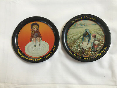 Two Vintage Advertising Tip Trays