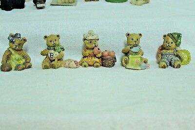Teddy Bear Miniature Collection Resin - Set of 5