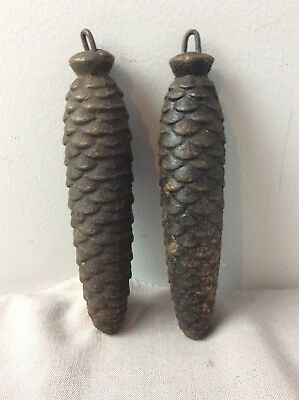Antique Pair of German Black Forest Cuckoo Clock Weights