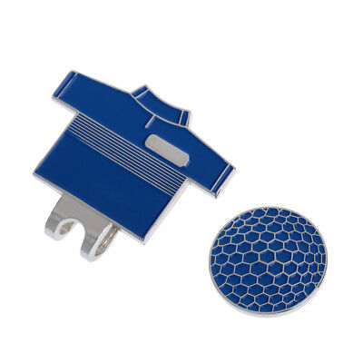 Funny Golf T Shirt Pattern Magnetic Hat Clip with Golf Ball Marker Blue