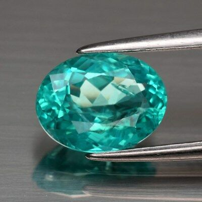 1.81ct 9x6.7mm Oval Natural Paraiba-Color Neon Green Blue Apatite