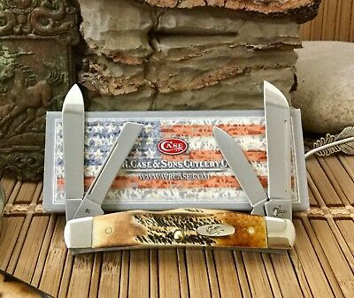 Case XX Stunning Genuine 6.5 BONE STAG Congress Pocket Knife