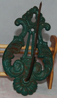 Vintage Antique Cast Iron Wall Mounted Store Receipt Or Note Holder Hook