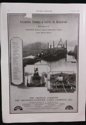 Vintage Equipment Ad 1920's ATSF RAILROAD INSTALL RR SIGNAL SUBMARINE CABLES  #2