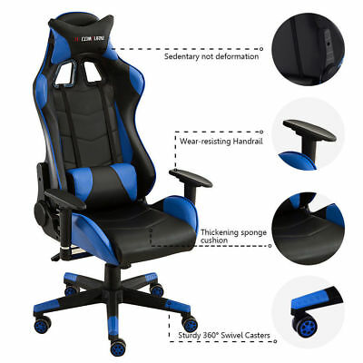 Sports Racing Gaming Chair Executive Computer Lift Recliner Faux Leather Soho