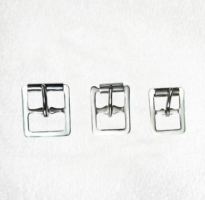 Silver Skate Buckles with roller 13mm, 16mm, 20mm pkt 10
