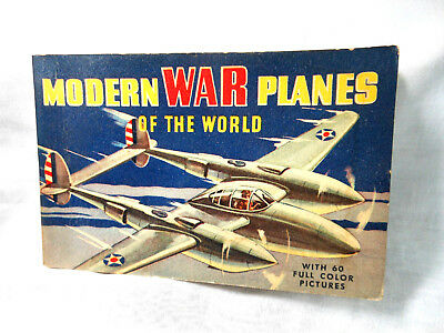 Modern War Planes Of The World 1940, 1942 By Whitman Publishing Co. 60 Pictures