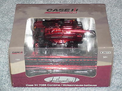 Ertl 1/64 Red Chrome Chase Unit Authentics #1 Case Ih 7088 Combine
