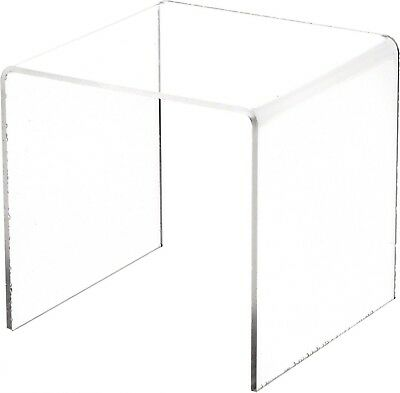 """Plymor Brand Clear Acrylic Square Riser, 5"""" H x 5"""" W x 5"""" D (1/8"""" thick) New"""