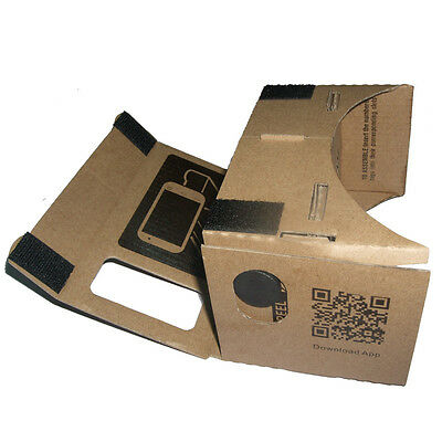 DIY Cardboard 3D Vr Phone Virtual Reality Viewing Glasses Movies For Google US